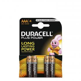 Duracell pack pilas alcalinas uso frecuente lr03 aaa plus por 4 unidades