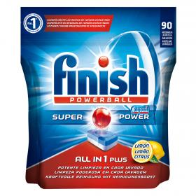 Finish calgonit detergente lavavajillas super power todo en 1 plus limon 90 en pastilla
