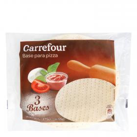 Carrefour Discount base pizza de 125g. por 3 unidades