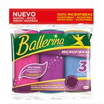 Ballerina bayeta microfibras collection por 3 unidades
