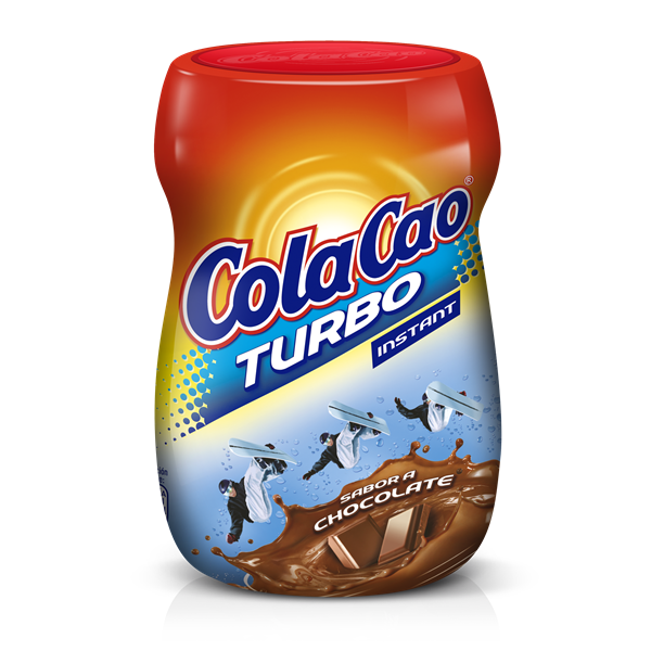 Cola Cao Turbo cacao soluble de 375g. en bote