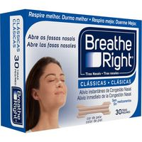 Tira nasal clã¡sica breathe right por 30 unidades en caja