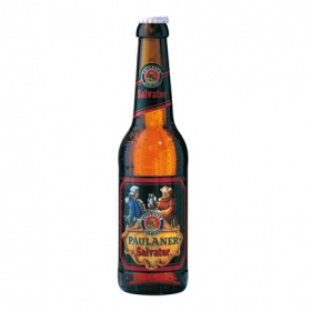 Paulaner cerveza salvator long neck de 33cl.