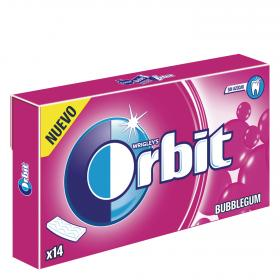 Orbit chicle laminas bubblegum de 33g. en paquete