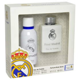Estuche de colonia + desodorante real madrid de 15cl.