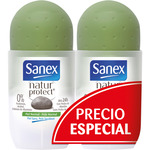 Sanex natur protect desodorante roll on envase piel normal de 50ml. por 2 unidades