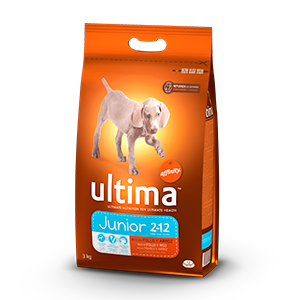 Ultima puppy & junior rico en pollo arroz perro de 3kg. en bolsa