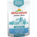 Almo Nature alimento gatos adultos urinary support con pescado envase de 70g.