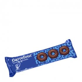 Carrefour aros chocolate negro de 150g.