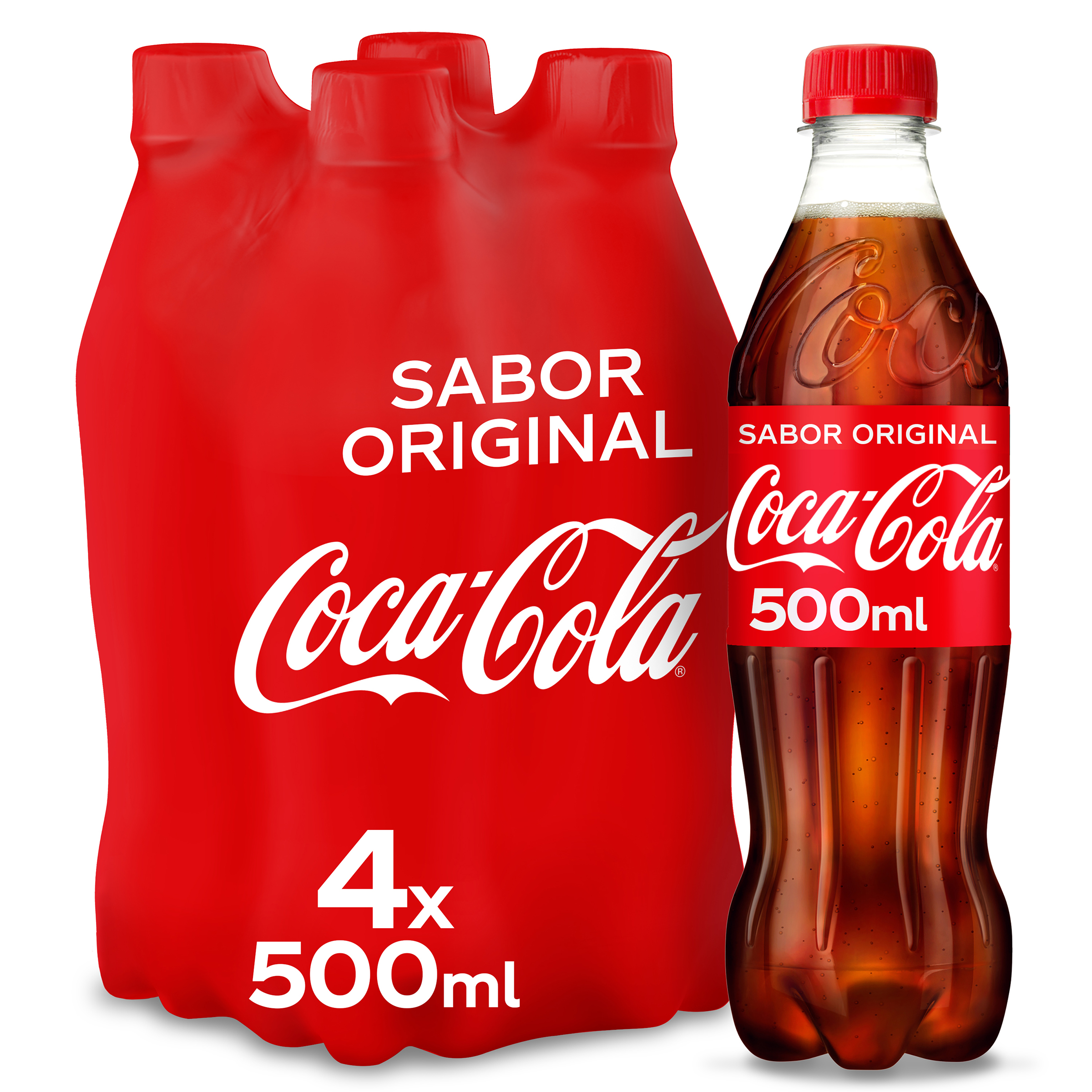 Coca Cola normal de 50cl. por 4 unidades