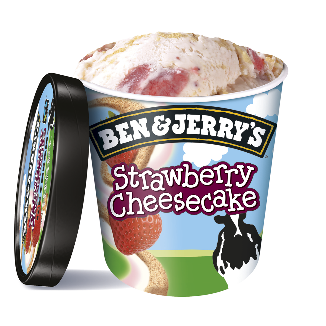 Ben & Jerry's strawberry cheesecake helado tarta queso con fresa cookie de 50cl. en tarrina
