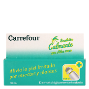 Carrefour emulsion calmante con aloe vera en roll on de 10ml.