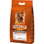 Ultima adult yorkshire terrier rico en pollo arroz perros tableta de 3kg.