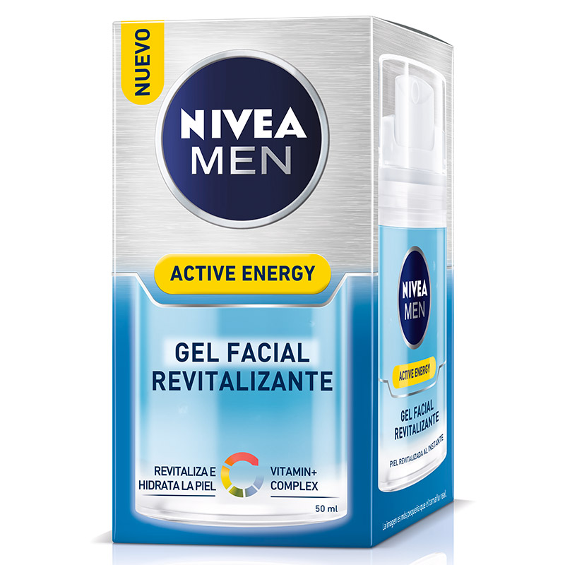 Nivea Men hombre skin energy q 10 gel hidratante facial instant effect revitaliza refresca piel tubo de 50ml.