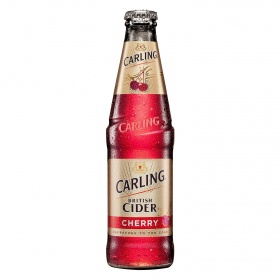 Carling sidra sabor cereza de 33cl.