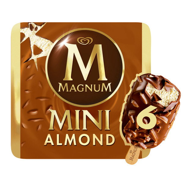 Magnum magnum mini almend 6x55ml 276g 6mp de 33cl. por 6 unidades