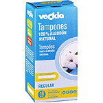 Veckia tampon regular algodon natural con aplicador biodegradable 16