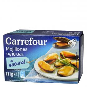 Carrefour mejillon al natural 14/18 de 69g.