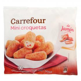 Carrefour mini croquetas jamon de 500g.