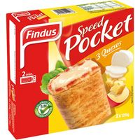 Findus speed pocket fina masa pizza con tres quesos estuche de 250g. por 2 unidades