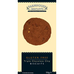 Farmhouse biscuits galletas con triple chocolate sin gluten estuche de 150g.
