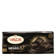 Valor chocolate negro de 170g.