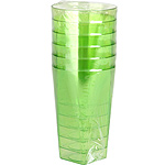Nv vaso color verde 6 de 30cl. en paquete