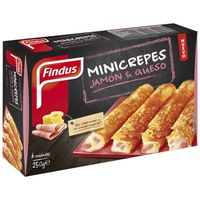 Findus mini crepes jamon queso de 250g.