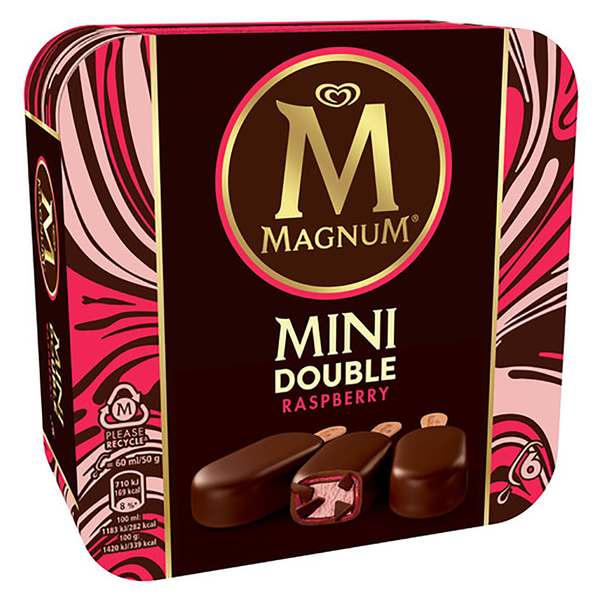 Magnum magnum mini doble frambuesa 6mp de 36cl. por 6 unidades
