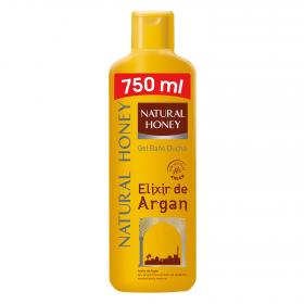 Natural Honey gel baño ducha elixir argan de 75cl. en bote