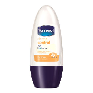 Control vasenol desodorante roll on derma antitranspirante sin alcohol envase de 50ml.