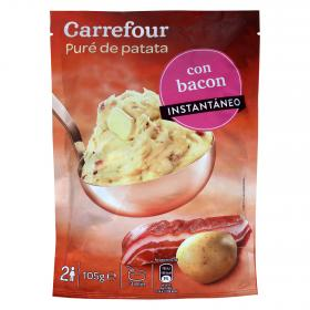Carrefour pure patatas con bacon de 105g.