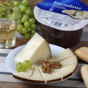 Carrefour queso mini semicurado de 900g.