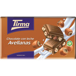 Tirma chocolate con leche avellanas tableta de 150g.