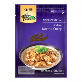 Asian Home Gourmet pasta especia korma curry asian home de 50g.