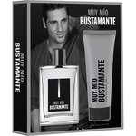 Bustamante muy mio eau toilette natural masculina balsamo after shave tubo de 75ml. en spray