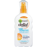 Delial sensitive advanced locion solar fp 50 resistente al agua piel clara sensible intolerante al sol de 20cl. en spray