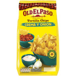 Old El Paso tortilla chips crema onion de 200g. en bolsa