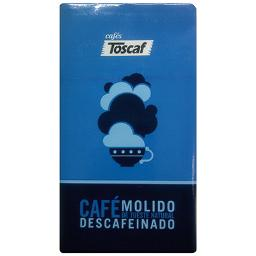 Toscaf cafe molido natural descafeinado de 250g.