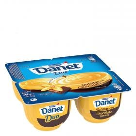 Danet danet duo natillas con chocolate fundido de 115g. por 4 unidades