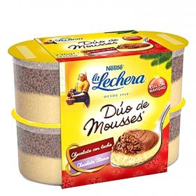 Nestle_ duo mousse chocolate blanco de 60g. por 4 unidades