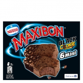 Maxibon sandwich mini black cookie maxibon por 6 unidades