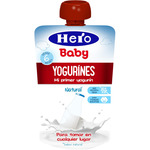 Hero Baby yogurines yogur natural pouche de 80g. en bolsita