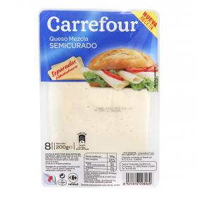 Carrefour lonchas queso semicurado de 200g.