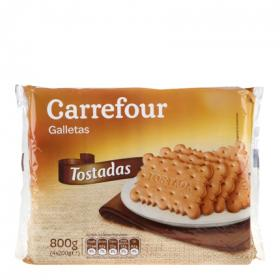 Carrefour galletas tostadas de 800g.