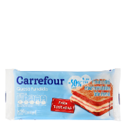Carrefour queso en lonchas light de 300g.