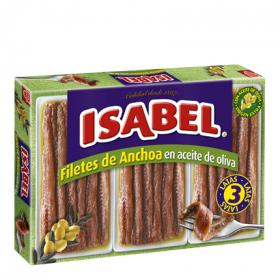 Isabel filetes anchoa en aceite oliva de 150g.