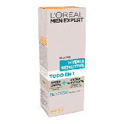 L'oreal Men after shave crema hidratante hydra sensitive pieles sensibles expert de 75ml.