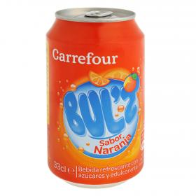 Carrefour refresco naranja bulz de 33cl.