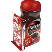 Nescafé cafe soluble descafeinado kit kat de 145g. en bote